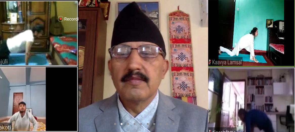 योग गरौं, निरोगी नेपाल बनाऔं : शिक्षा मन्त्री पोखरेल
